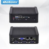 Quad Core Mini Pc With 4GB RAM And 32G 64G 128G 256G MSATA SSD Fanless Mini