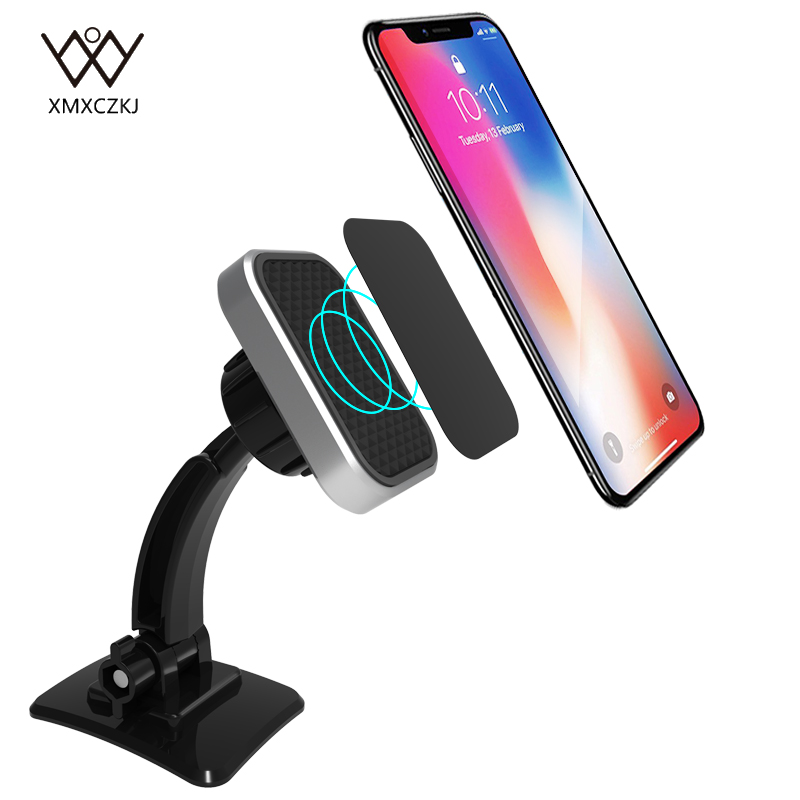 Magnetic Phone Holder For iPhone X Car Dashboard Mount Mobile Phone Holder Universal Magnet Cell Phone Holder Stand for Samsung