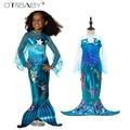 2017 neue Mädchen Meerjungfrau Kleider mit Perle Kinder Halloween Kleine Meerjungfrau Ariel Cosplay Kostüme für Kinder Karneval Kleid|girls mermaid dress|costume for kidsnew girl -