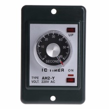 0-60 seconds/minutes Power On Delay Timer Relay With Socket Base AC 220V AH2-Y Time Switch