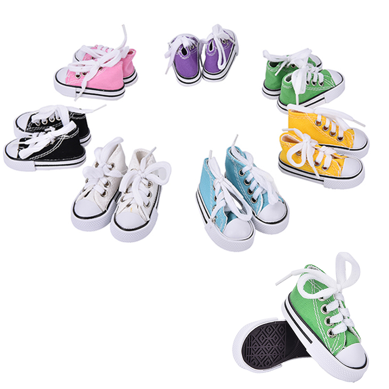 1 Pair 7.5cm Canvas Shoes For BJD Doll Toy Mini Doll Shoes for Sharon Doll Boots Dolls Accessories цена