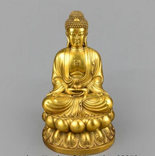 16 Tibet bouddhisme laiton cuivre Fane Tathagata Sakyamuni bouddha tenir bol Statue mascotte personnes16 Tibet bouddhisme laiton cuivre Fane Tathagata Sakyamuni bouddha tenir bol Statue mascotte personnes
