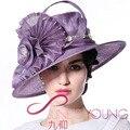 Mujeres Sinamay Sombrero Vestido de Cóctel Del Partido de Tarde de La Boda de La Iglesia Derby Gorra de Ala Ancha Sun Fedora Gorros Boina Sombreros Hechos A Mano de Nuevo