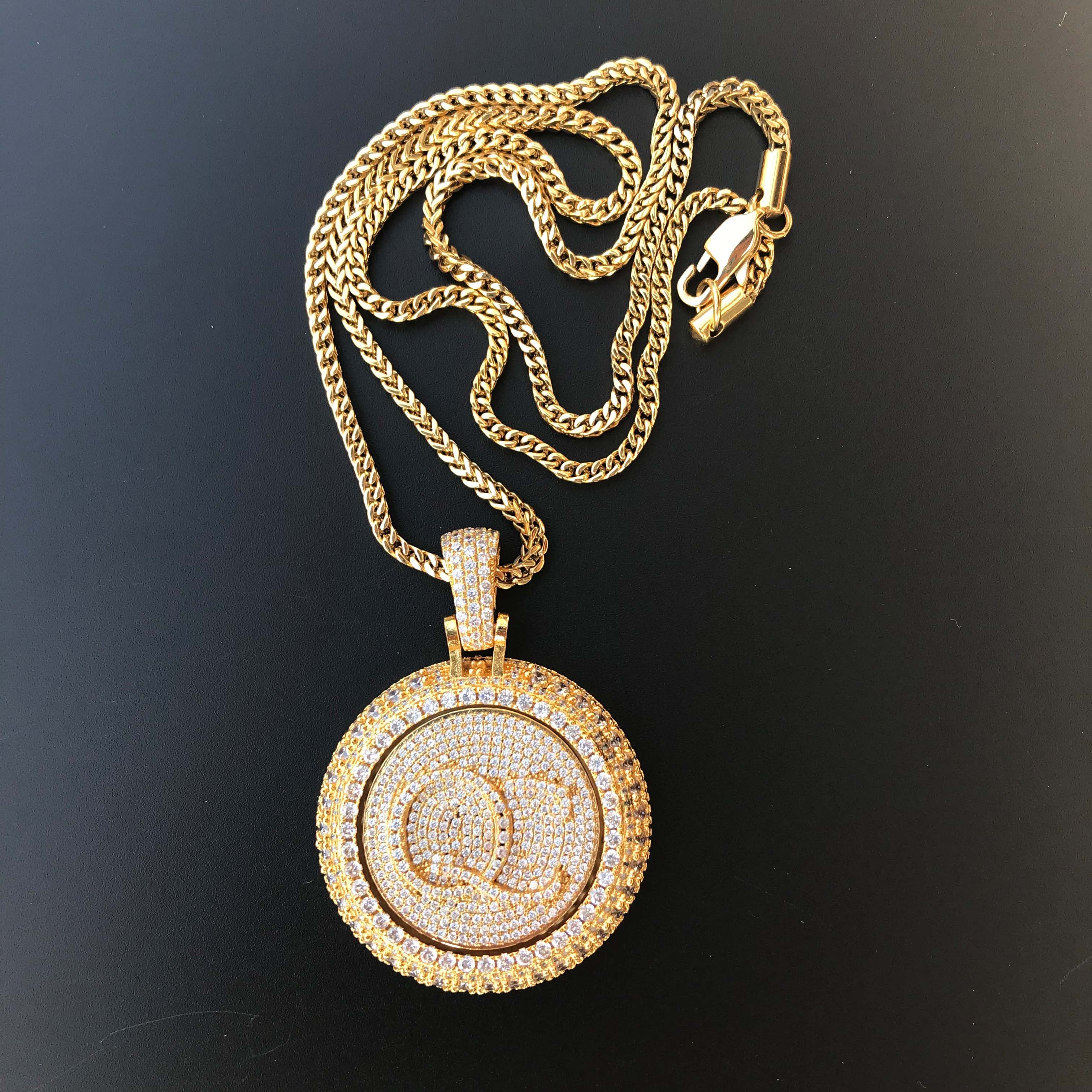 Image 5 - Personal custom spinning pendant gold plating pendant-in Charms from Jewelry & Accessories