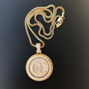 Image 5 - Personal custom spinning pendant gold plating pendant