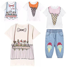 2018 SPRING KIDS BOBO CHOSES FRUITS CARTOON GIRLS CLOTHING SETS BOYS CLOTHING SETS BABY GIRL CLOTHES FOR GIRLS VESTIDOS