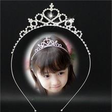Новинка 2017 милая корона принцессы в форме сердца тиара стразы