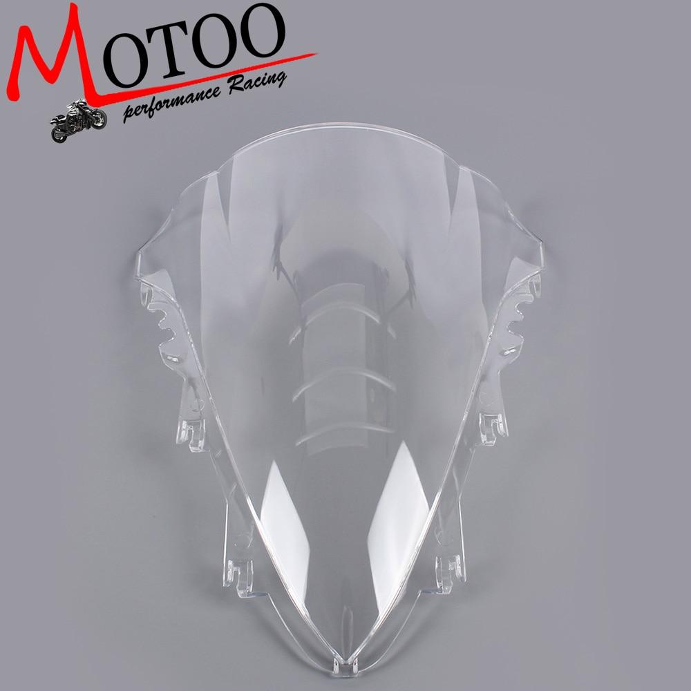Motoo -Windshield WindScreen Double Bubble for YAMAHA R1 2007 2008 motoo windshield windscreen double bubble for honda cbr600rr f4 1999 2000