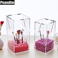 PEANDIM Acrylic Makeup Brush Storage Box Cosmetic Tool Flashing Pencil Holder Waterproof Storage