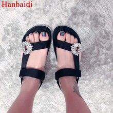 ФОТО  sexy satin sandals women flats shoes crystal embellished 2018 rhinestone wedding shoes saandalia feminina gladiator shoes women
