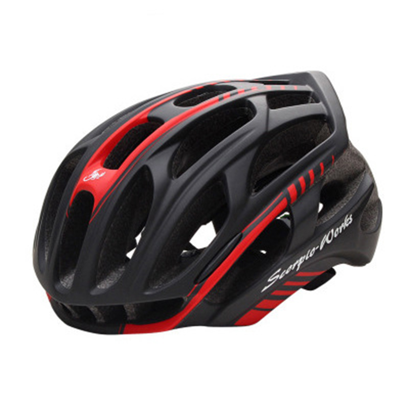 ФОТО Integrally Molded Cycling Helmet Variety Of Multi-Colored MTB Bike Helmet Antimicrobial Radiant Highway Bicycle Safety Helmets