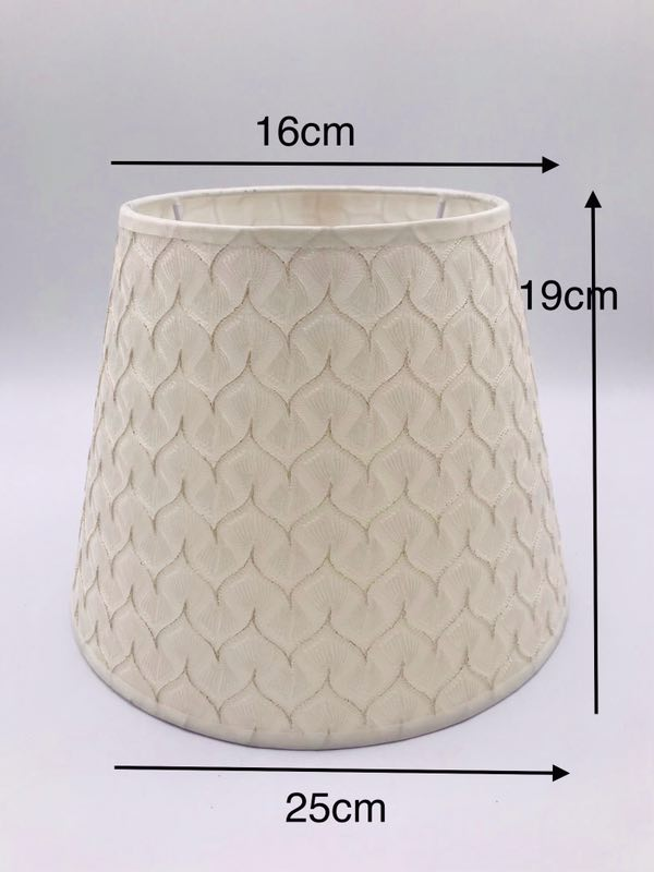 E27 Lampshae for table lamp linen and pvc beige color printing lampshade in Lamp Covers Shades from Lights Lighting