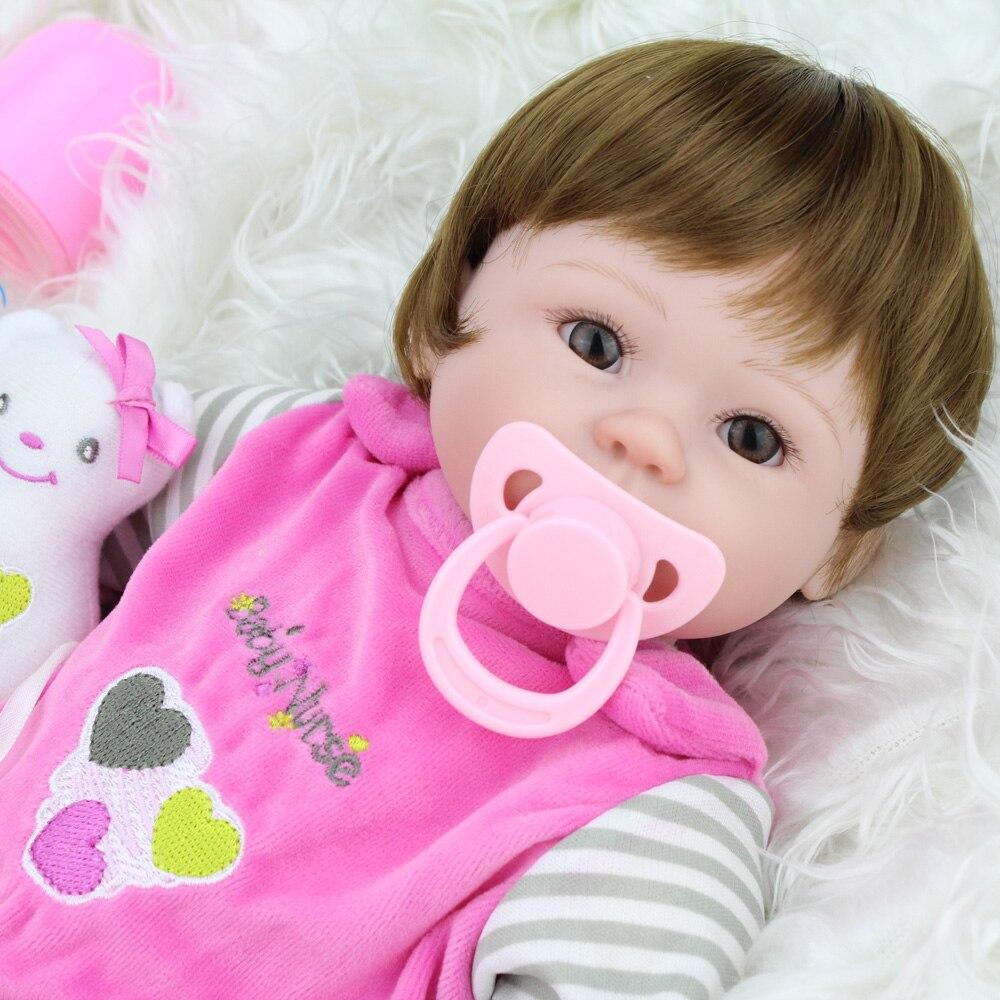 NPKDOLL 42 cm Lifelike BeBe Doll Reborn Realistic Baby Girls Toys Soft Silicone Reborn Baby Dolls Kids Christmas Gift COLLECTION цена
