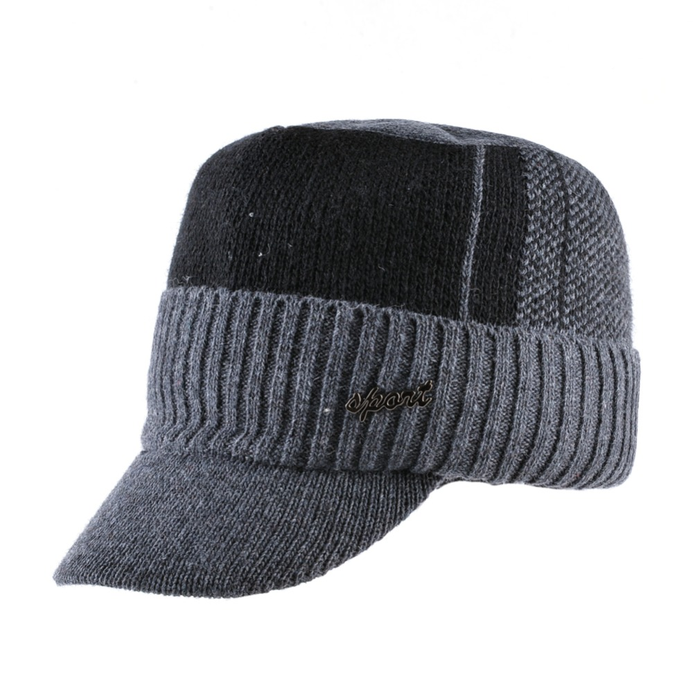 44285d91541 TQMSMY Winter military Hats For Men Bone baseball cap men s Knitted ...