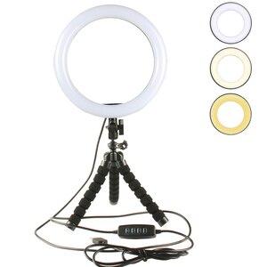 Image 1 - ชุดถ่ายภาพLED 16 26ซม.Selfie Stickแหวนแสงกล้องโทรศัพท์วิดีโอสตูดิโอแต่งหน้าโคมไฟOctopusขาตั้งกล้อง
