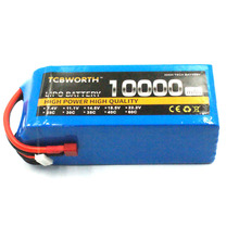 RC LiPo Battery 22.2V 10000mAh 25C 6S RC Li-Poly Batteries For RC Models Airplane Car Boat Drone Tank Helicopter AKKU TCBWORTH