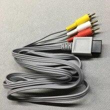 FZQWEG 10 шт. 1,8 м Аудио Видео AV кабель для игр композитный 3 RCA видео позолоченный кабель шнур провод для консоли Nintendo Wii WII U