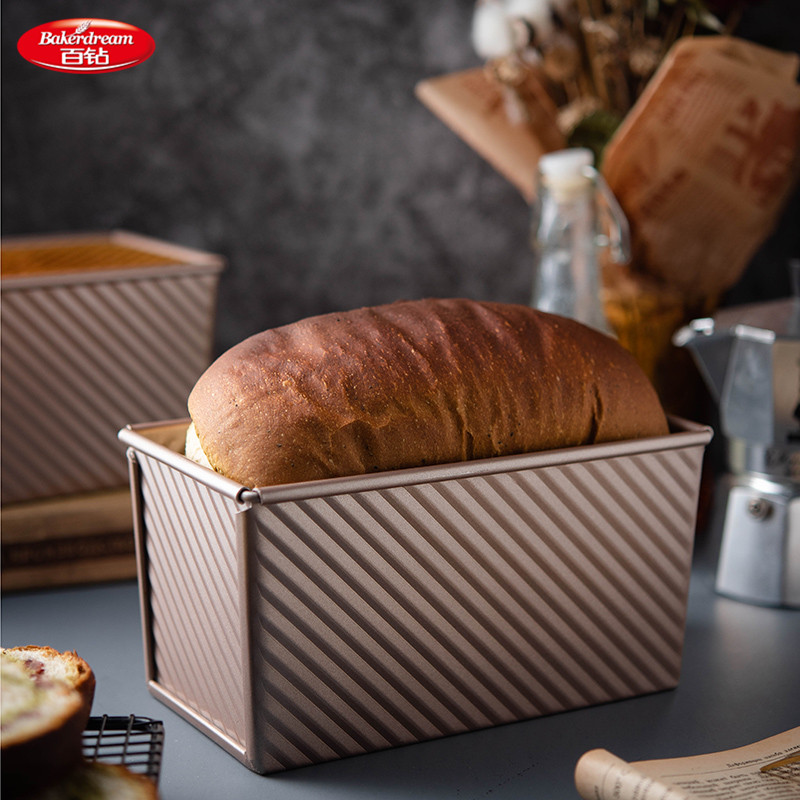 Bakerdream Carbon Steel Bread Loaf Pan With Cover 8 5x4 8