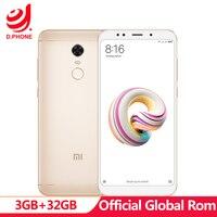 5.99 FHD Global Rom Xiaomi Redmi 5 Plus 3GB RAM 32GB ROM Snapdragon 625 Octa Core 4G TD LTE Smartphone 12MP fingerprint