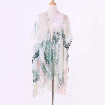 Las señoras de las mujeres novedad de verano Hippie Boho borlas parte superior de Chal Floral Kimono blusa suelta, Cape Cardigan