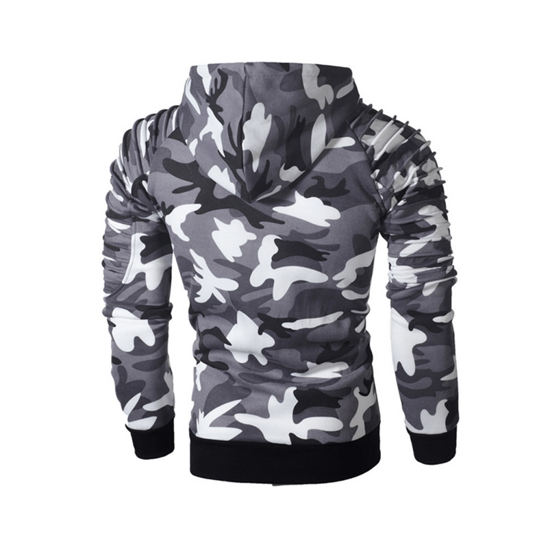 Laamei Camouflage Hoodies Men 2019 New Fashion Sweatshirt Male Camo Hoody Hip  Autumn Winter Military Hoodie Plus Size 3XL 4