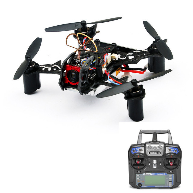Lo nuevo eachine bat qx105 105mm micro fpv led racing quadcopter w/osd aiof3 eachine i6 transmisor rtf