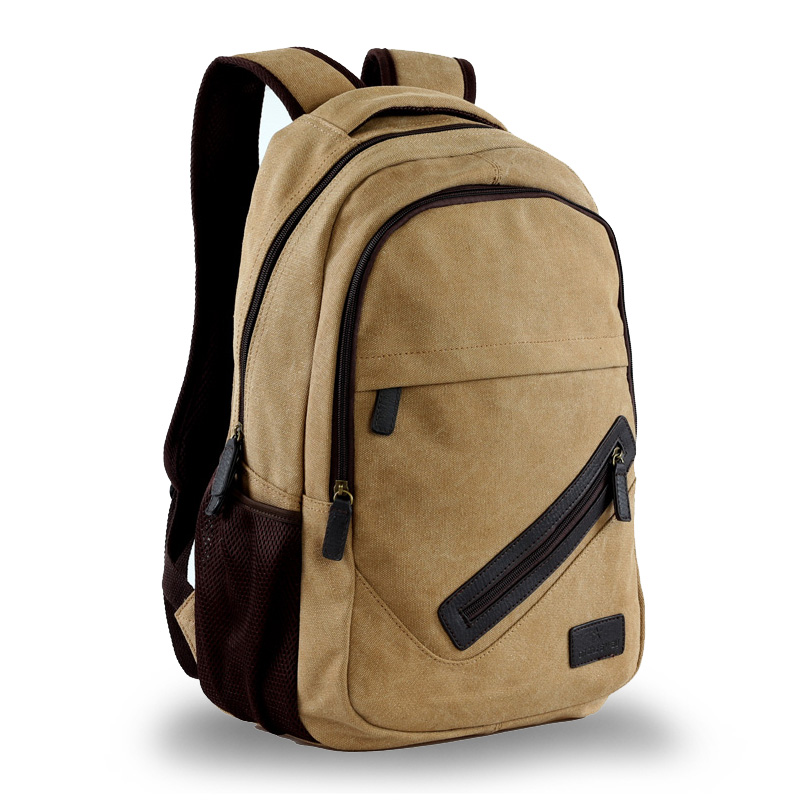 Man canvas backpack for girl school bag canvas 14