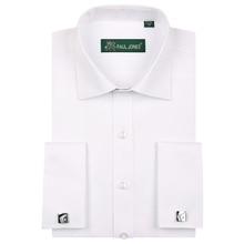 high quality France cufflink mens tuxedo shirts  soft comfortable regular fit solid business men dress shirts s to5xl
