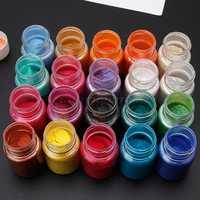 20 farben Glimmer Pulver Epoxy Harz Farbstoff Perle Pigment Natürliche Glimmer Mineral Pulver Je13 19 Dropship