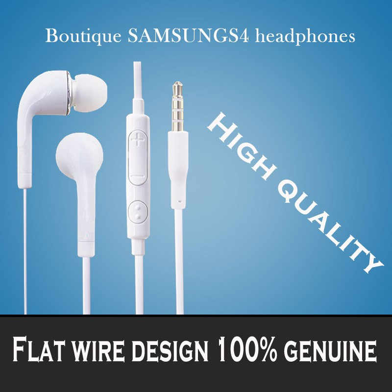 Bass Sound Earphone With Volume&Mic for Samsung Galaxy S 2 3 4 S5 S6 Note Genuine Brand New 3.5mm Stereo Sport Headset Headphone