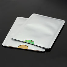 Blocking secure rfid sleeves id credit skin protector card holder case