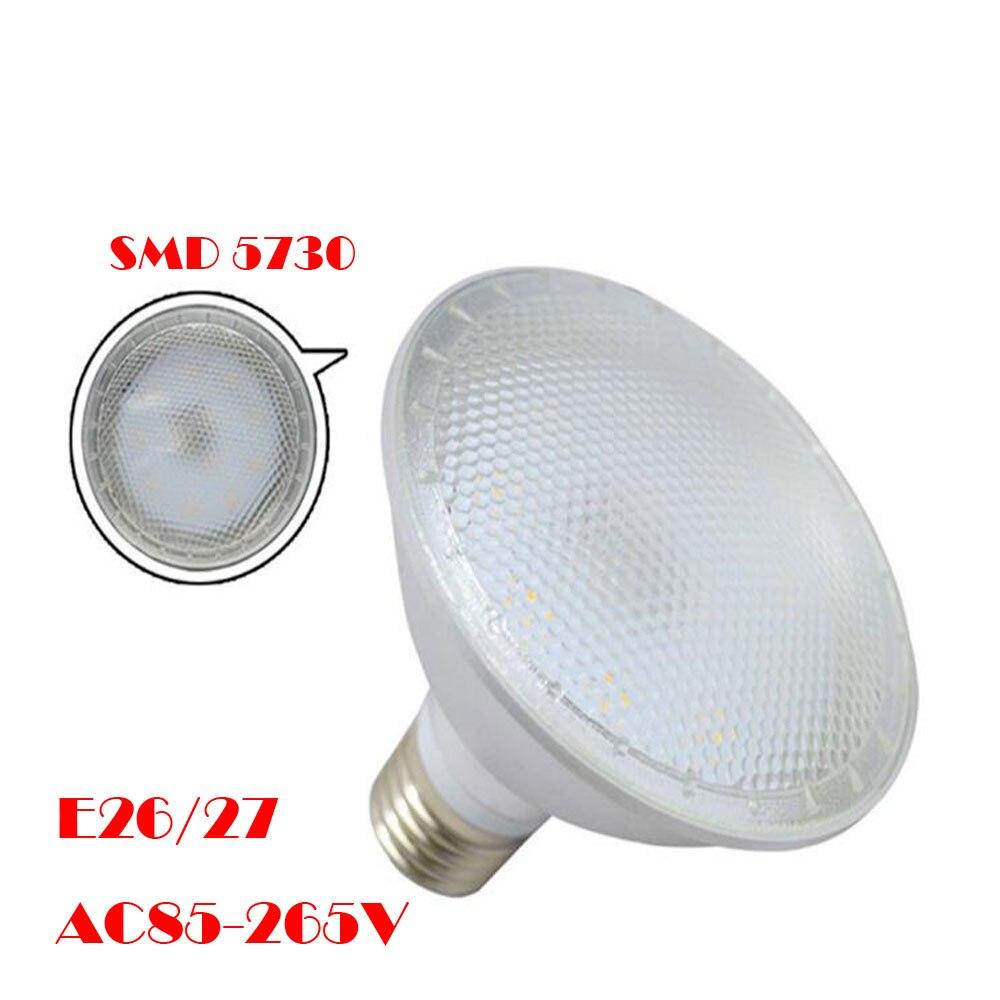 220V 38 LED waterproof 120V LED 15W E27 lamp 240V 36 bulblight LED 5730 spotlight Par BulbsTubes SMD Umbrella in 110V refletor US9 31OFF Par38 0wkPO8n