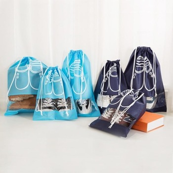Storage bags non-woven laundry shoes bag travel pouch storage portable tote drawstring bag organizer