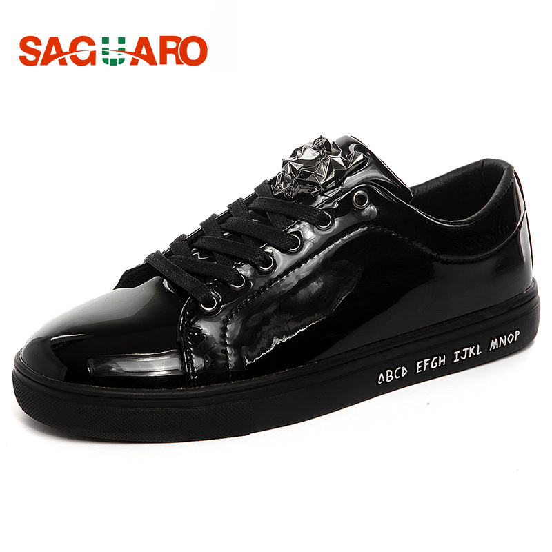 SAGUARO New 2018 Luxury Brand Men Shoes England Trend Casual Leisure Shoes PU Leather Shoes Breathable For Men's Flats цена
