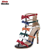 Fancy Women High Heels Butterfly Knots Sweet Jelly Colors Pumps Woman Shoes Sexy Sandals Woman Party