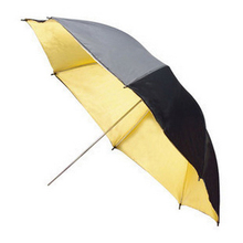 FOTGA 33″83cm Reflector Reflective Black Gold Golden Umbrella
