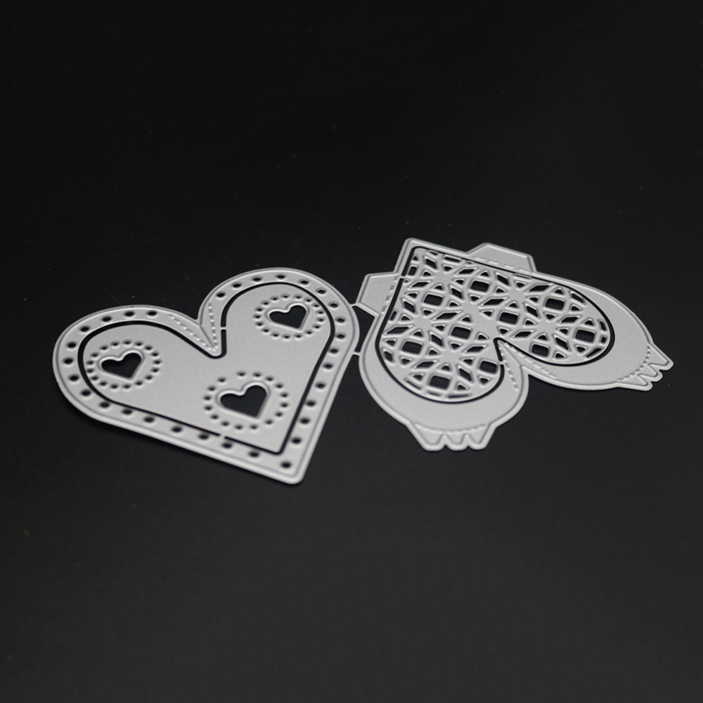 Valentines Dayscrapbooking openwork love shape Metal steel cutting Heart and soul shape Book photo album art card Die cut