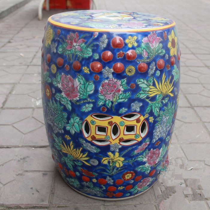 Remarkable Us 299 0 Chinese Ceramic Stools Seat For Indoor Home Decoration Butterfly Famille Rose Decorative Garden Stool In Stools Ottomans From Furniture Pabps2019 Chair Design Images Pabps2019Com