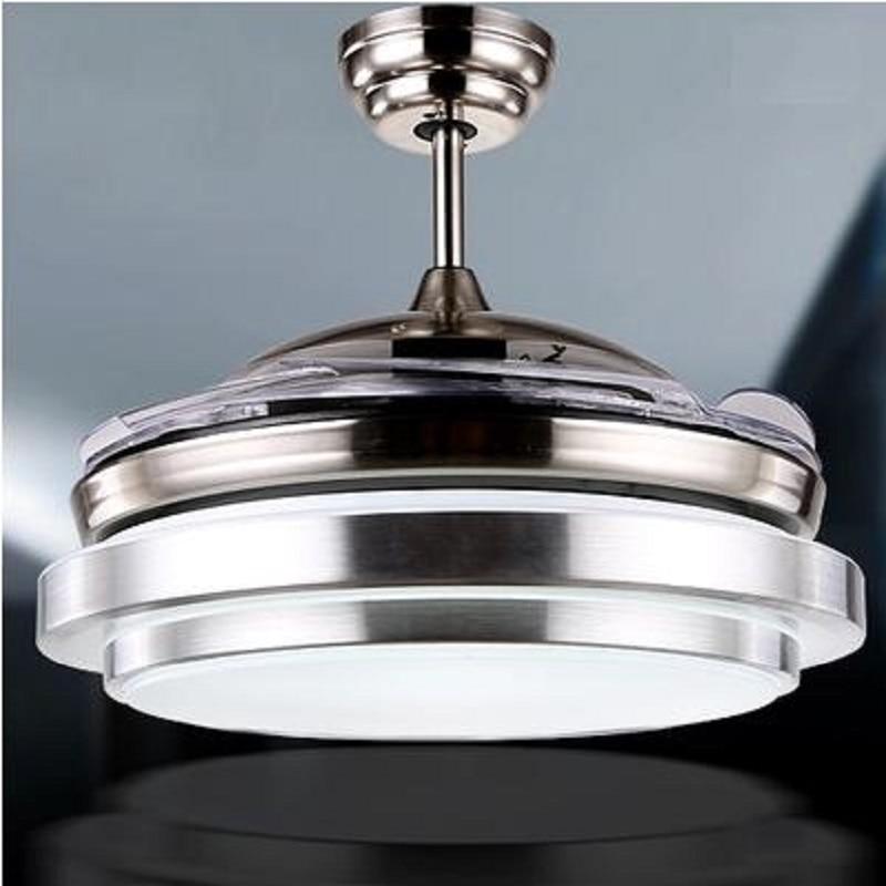 """Lamp Fan: Ultra Quiet 36"""" Hidden Blade Ceiling Fan Lamps 110 240v"""