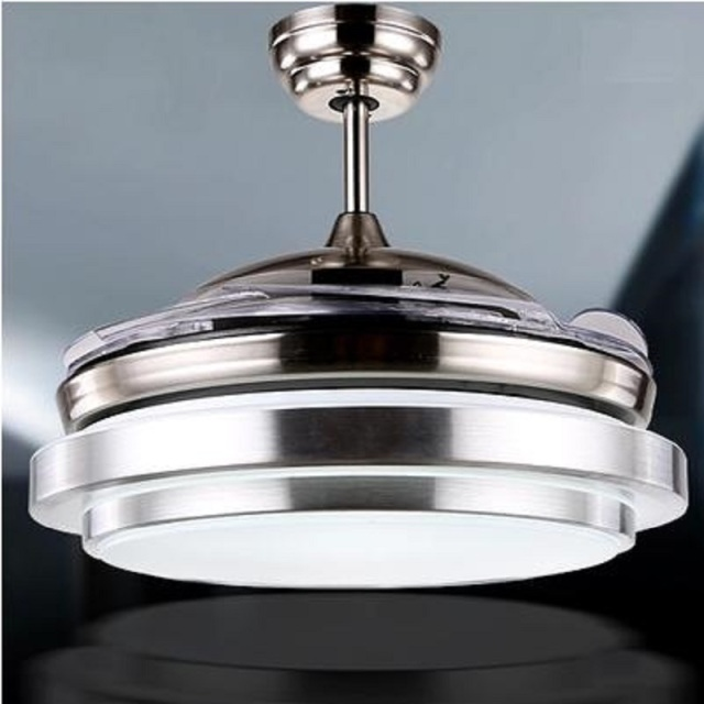 Invisible ceiling fan reviews mail cabinet ultra quiet 36 hidden blade ceiling fan lamps 110 240v 48w bi color aloadofball Images