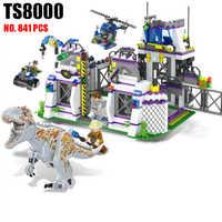 TS8000 Heftigen Brutal Dinosaurier Indominus Rex Breako Jurassic Dinosaurier Welt 826 stücke Bricks Building Block Spielzeug Geschenk Für Kinder