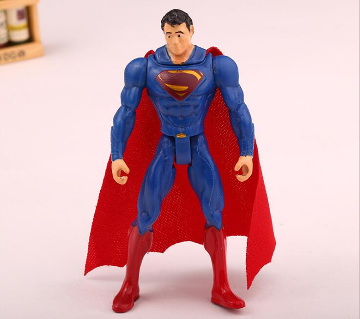 6pcs/set 10cm Superman Heros Cartoon Doll Table Toy Decors Boy Kids Birthday Festival Take-home Party Guests Favors