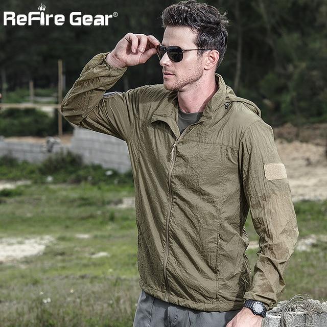 Tactical Lightweight Waterproof Jacket Men Summer Breathable Thin Hoody Raincoat Military Portable Windbreaker Army Skin Jackets 4