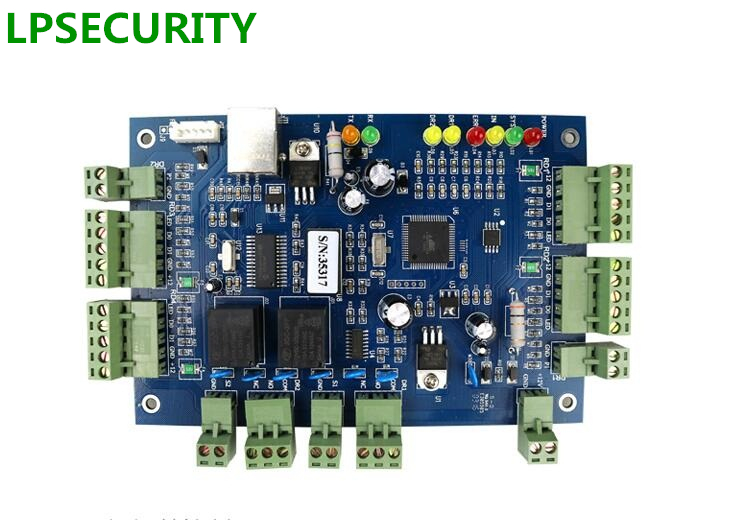 LPSECURITY RJ45 TCP IP Network Access Control Board module TCP IP Network Intelligent 2 relay door