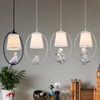 Nordic modern white 6 little angel children's room restaurant living room study bedroom bar simple cute chandeliers