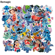 55pcs Lilo stitch cartoon cute anime movie funny decals scrapbooking diy decoration phone laptop waterproof decorations