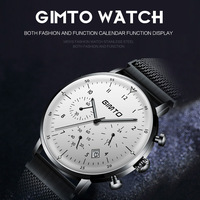 1a7c3694da5c Reloj Hombre GIMTO Top Brand Luxury Men Watches Ultra Thin Date WristWatch  Steel Waterproof Sport Watch