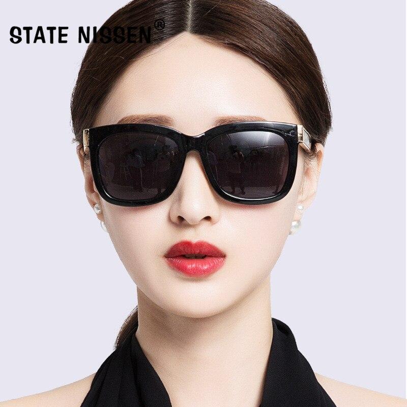 83e31da796 STATE NISSEN Fashion Women s Polarized Sunglasses Vintage Femme Brand  Designer Shades Eyewear Driving Sun Glasses Oculos HD Lens-in Sunglasses  from Women s ...