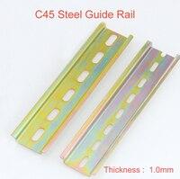 2 pcs C45 trilho din de Aço clipe De Montagem Instalação pista fixa 35mm de linha de Fiação fixa MCB de fixação do assento comprimento: 500mm