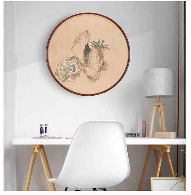 20 31.5 40 50 سنتيمتر إطار صور مستديرة 20 بوصة الخشب غرفة المعيشة الإبداعية الجدار الشنق إطار الصورة كبيرة الحجم خشبية الجدار الديكور